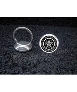925 Sterling Silver Adjustable Ring Wicca Pentagram Spirit Earth Fire Ai... - $39.00