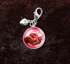 925 Sterling Silver Charm Baby Fetus in the Womb Medical Science image 1