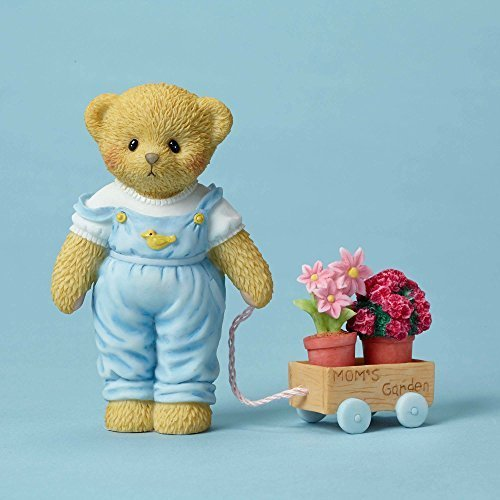Cherished Teddies Mother's Bear and Wagon with Flower Pots