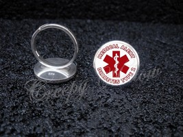 Choose Medical Alert Message Sterling Silver Adjustable Ring - $39.00
