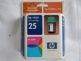 HP 25 Tri-color Inkjet Cartridge 51625A NEW OEM Single Unit 08/02 - $5.00