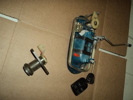 2001 JAGUAR XJ   XJ8 driver outside door handle and trunk lock cylinder with key - $148.50