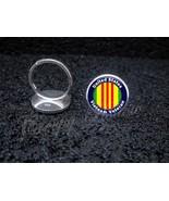 925 Sterling Silver Adjustable Ring United States Vietnam Veteran - $34.65