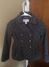 Jessica Simpson Girl's Gray/Black Pot Dot Jacket Size S 7/8 - $9.50