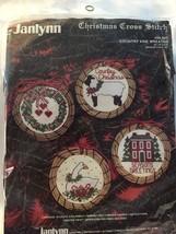 "Christmas Cross Stitch ""Country Vine Wreaths""  by Janlynn   - $12.99"
