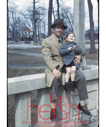 1950's Orginal  35mm slide transparency business dad with baby - $4.90