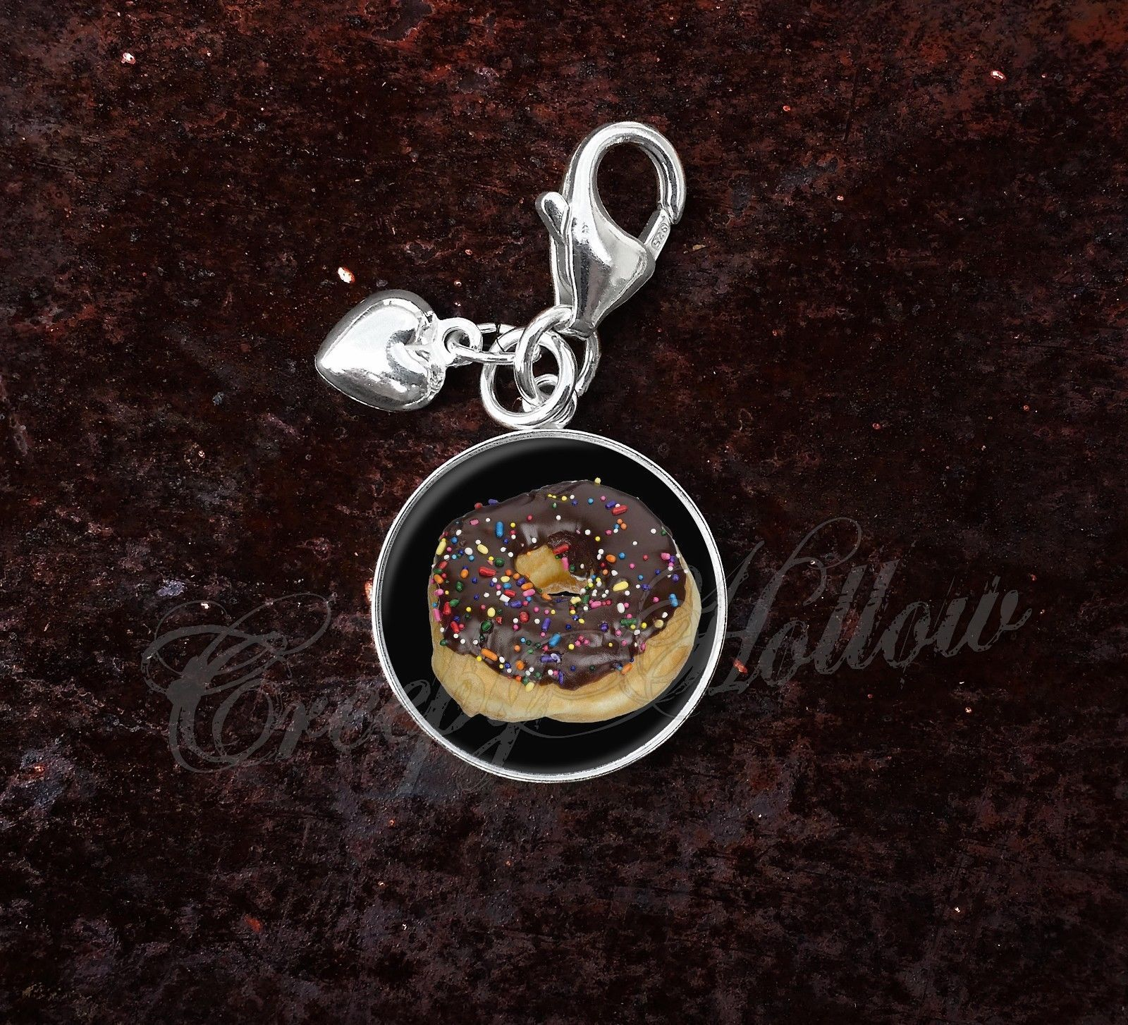 Primary image for 925 Sterling Silver Charm doughnut donut confectionery pastry
