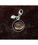 925 Sterling Silver Charm doughnut donut confectionery pastry - $25.25