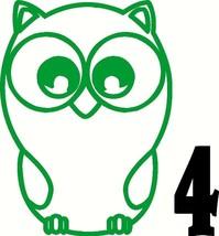 """Owl vinyl sticker decal car truck window glass wall hoot wise bumper 5"""" ... - $2.49"""