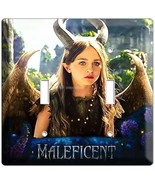 YOUNG MALEFICENT W HORNS WINGS DOUBLE LIGHT SWITCH WALL PLATE GIRLS PLAY... - $11.99