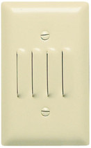 Pass & Seymour SS760-I Ivory Stainless Steel Louvred Wall Plate Step Light  b239 - $12.86