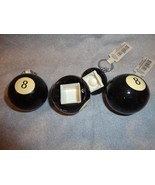 SET OF 3 EIGHT BALL SAFE DIVERSION SAFE SECRET SAFE PILL BOX - $8.86