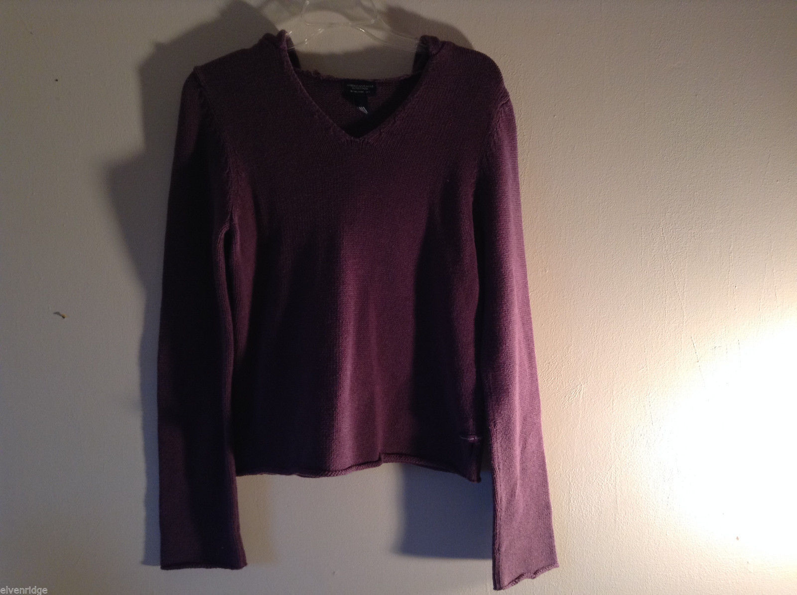 American Eagle Outfitters Women's Size L Purple Hooded Sweater with Split Detail