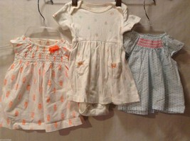 Carter's Lot of 3 baby girl dresses, Size 3 months