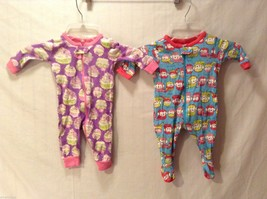 Children's Place Lot of 2 Sleep and Play Outfits, one with feet, Size 0-3 Months