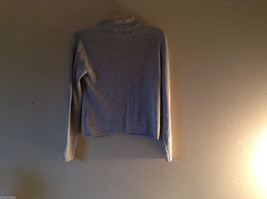 Classic Elements Women's Size 6-8 Mock Neck Gray Sweater Ribbed Knit Long Sleeve