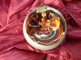 Holiday glass ornament Christmas Window ball w choice gingerbread man inside