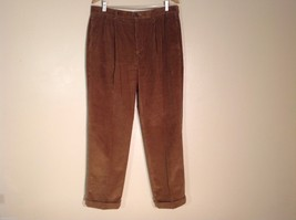 """Mens Brooks Brothers """"346"""" Brown Corduroy Pants, Size 36W/32L"""