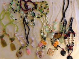 Lot of Bracelets and Necklaces w/ Varying Colors and Sizes