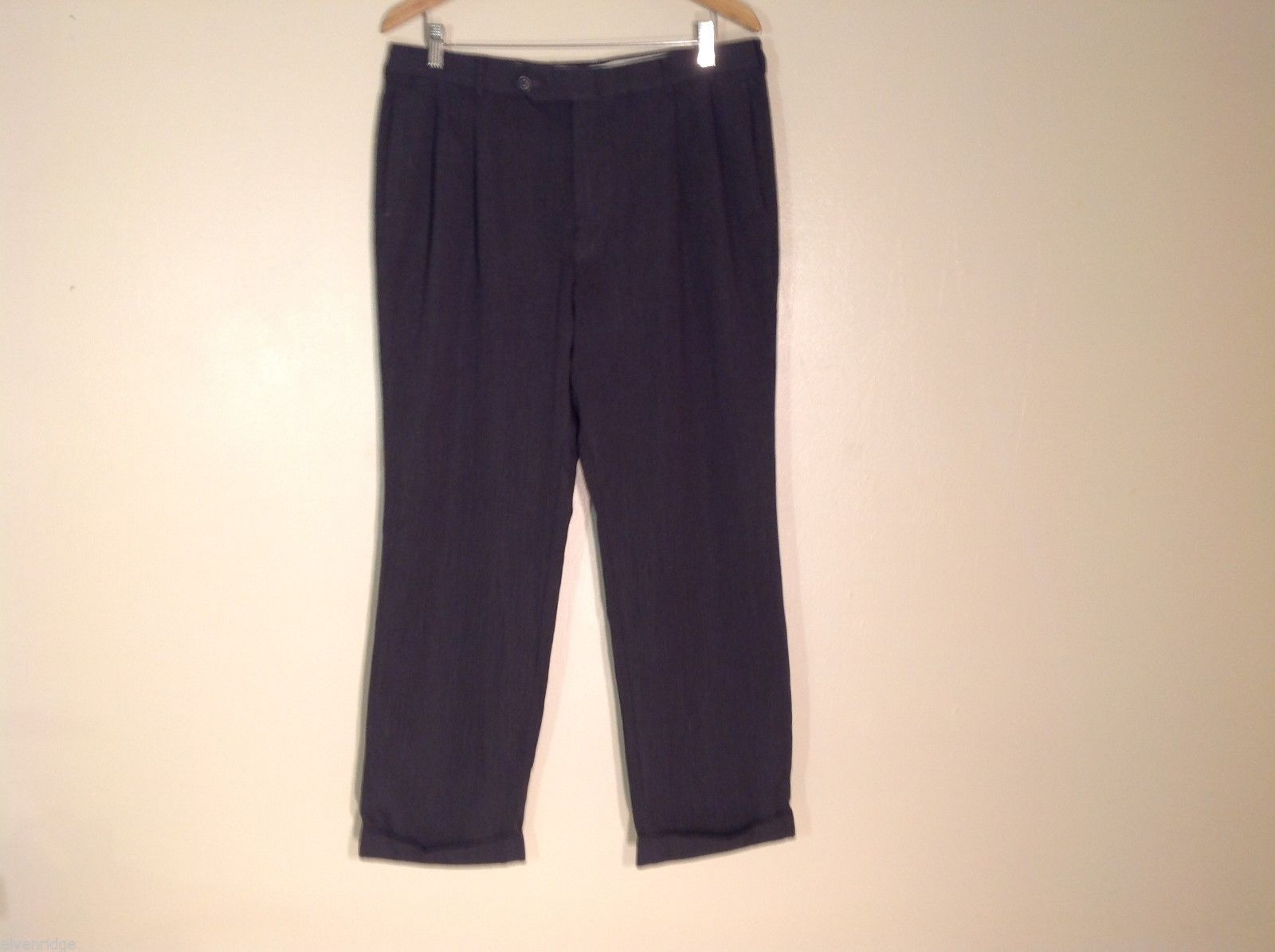 Mens Nautica Wool Charcoal Gray Dress Pants, Size 36X30