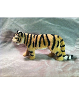 Wild Tiger Orange Cat Animal Figurine - recycled rabbit fur - $24.74