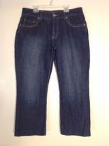 Women's Chico's Platinum Dark Blue Denim Jeans, Size 2 - $24.74