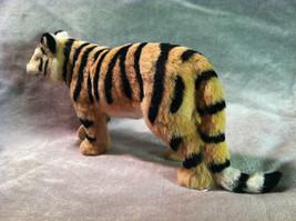 Wild Tiger Orange Cat Animal Figurine - recycled rabbit fur image 4