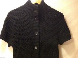 Womens Banana Republic Short Sleeved Button Up Sweater, Size Small image 3