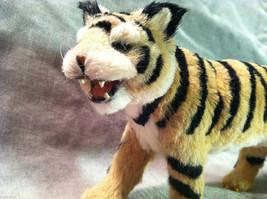 Wild Tiger Orange Cat Animal Figurine - recycled rabbit fur image 3