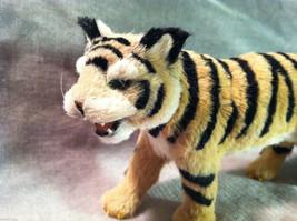 Wild Tiger Orange Cat Animal Figurine - recycled rabbit fur image 2