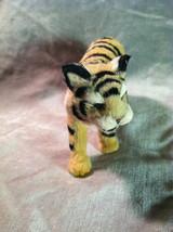 Wild Tiger Orange Cat Animal Figurine - recycled rabbit fur image 7