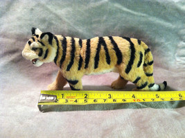 Wild Tiger Orange Cat Animal Figurine - recycled rabbit fur image 8