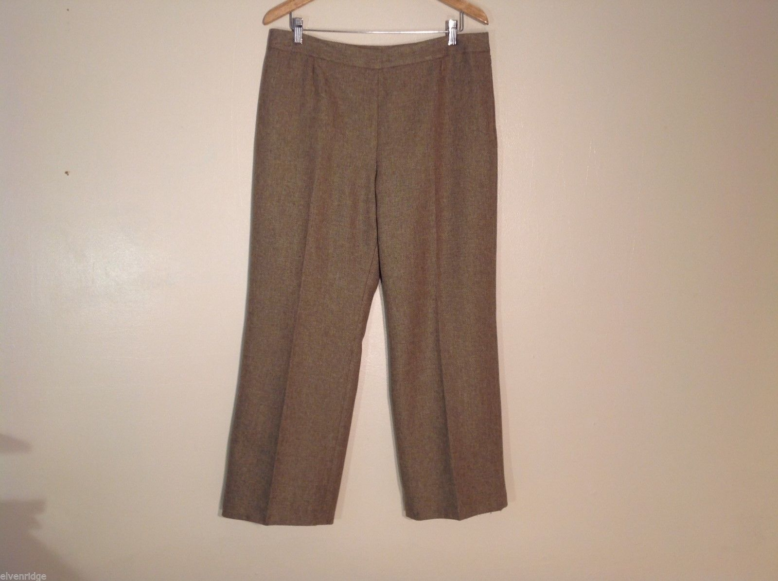 Womens Suit Studio Brown Dress Pants, Size 14P