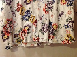 Womens Talbots Long Sleeve Off-White Floral Shirt, Size Large image 3