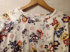Womens Talbots Long Sleeve Off-White Floral Shirt, Size Large image 2