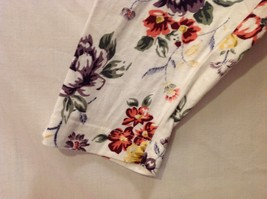 Womens Talbots Long Sleeve Off-White Floral Shirt, Size Large image 4