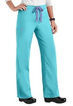 Scrub Pants XL Blue Crush Med Couture Uniforms Solid Signature Women's 8... - $28.10