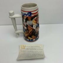 Budweiser Stein Mug ~Play Ball Baseball~CS295 Sports Action Series 1996 ... - $24.49