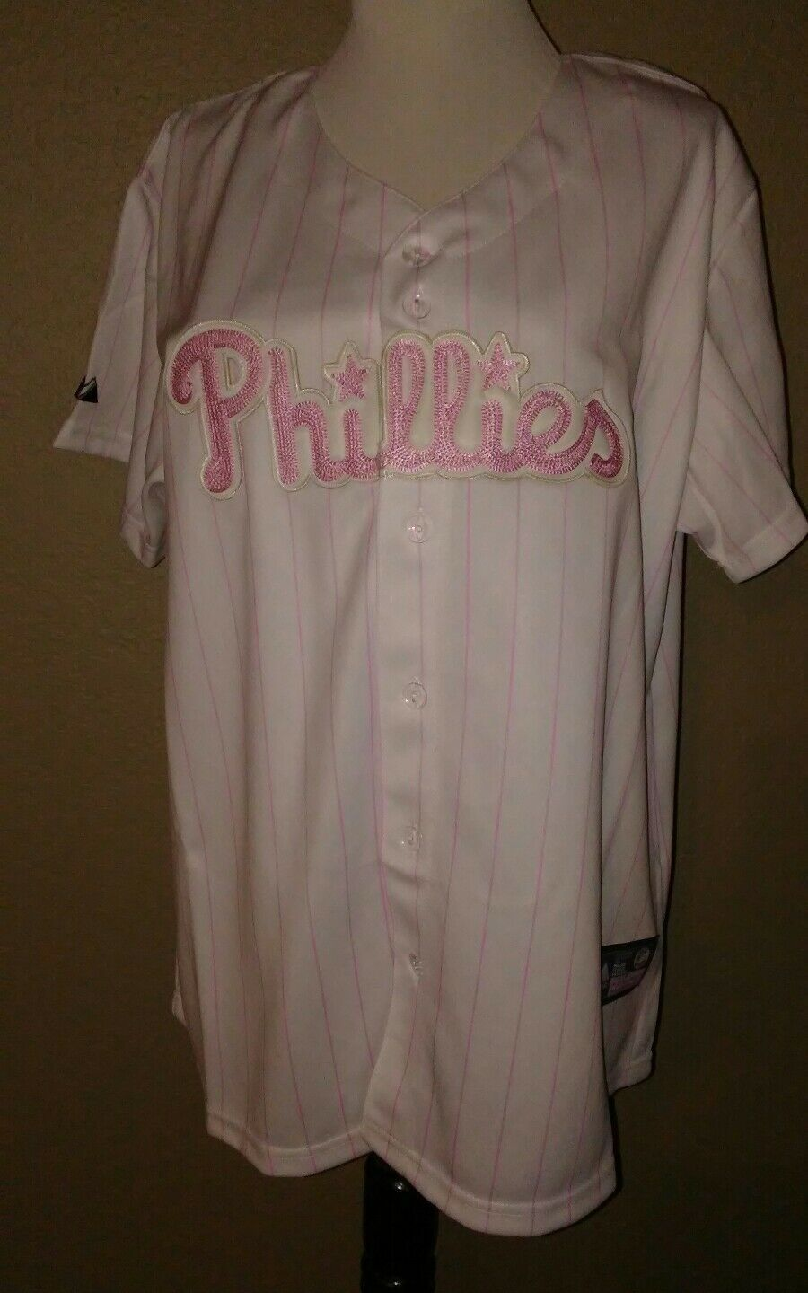 Primary image for Philies Ryan Howard  Majestic Jersey Women's Sz XL Mlb Baseball 09 World Series