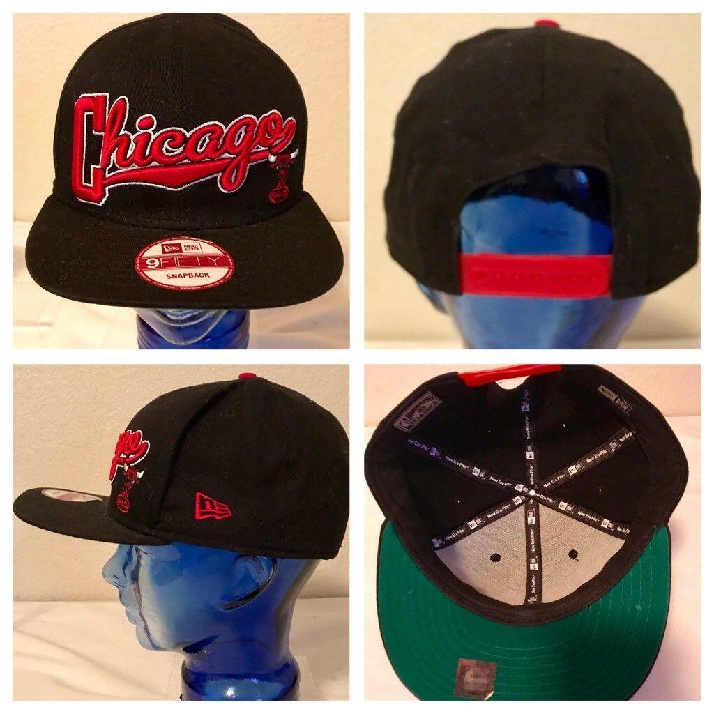 sale retailer 19d3e a0e2b S l1600. S l1600. Previous. NBA Chicago Bulls Era 9Fifty 950 Snapback Hat Cap  Black   Red One ...