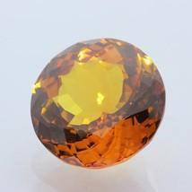 Sapphire Golden Orange Faceted 18×18 mm Round Lab Created Gemstone 24.79... - $77.90