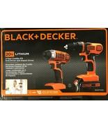 BLACK+DECKER - BD2KITCDDI - 20V MAX* Drill/Driver + Impact - Combo Kit - $148.45