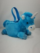 EASTER BASKET PLUSH UNICORN RAINBOW  NEW blue - $9.90