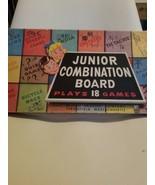 Vintage 1955 Milton Bradley Junior Combination Games with Box & Instruct... - $4.95