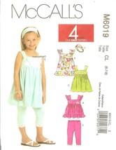 McCall's 6019 Children's/Girls' Top, Dresses, Leggings & Headband Size 6... - $7.47