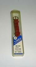 Vintage New in Package 14mm TIMEX PADDED CROCO GRAIN BROWN SLT545 WATCH ... - $11.00
