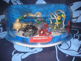 Disney Store Marvel PVC Spider-Man Figurine 5 Figure Playset Set Venom New. - $33.00