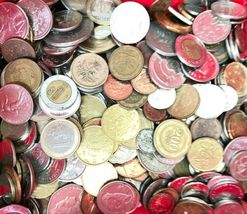 +9 lbs Foreign Coins Bulk World Token Tax Gaming Older Coins Lot Souvenir image 2