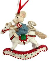 Merry Chrismouse on Rocking Horse Ornament by Kurt S Adler (Boy) - $17.50