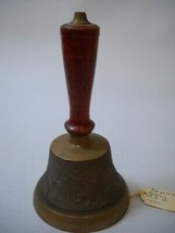 ANTIQUE United States CALVARY BELL from 1860 HAND PAINTED Handle Eagle ART - $34.64